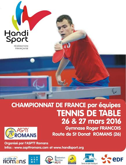 Championnat de france par quipes tennis de table handi - Championnat de france de tennis de table ...